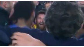 Messi y el amuleto, en plena euforia tras la hazaña