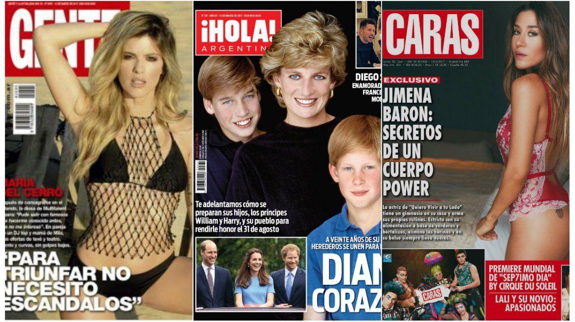 Mir las tapas de revistas de esta semana mar a del cerro for Revistas de espectaculos de esta semana