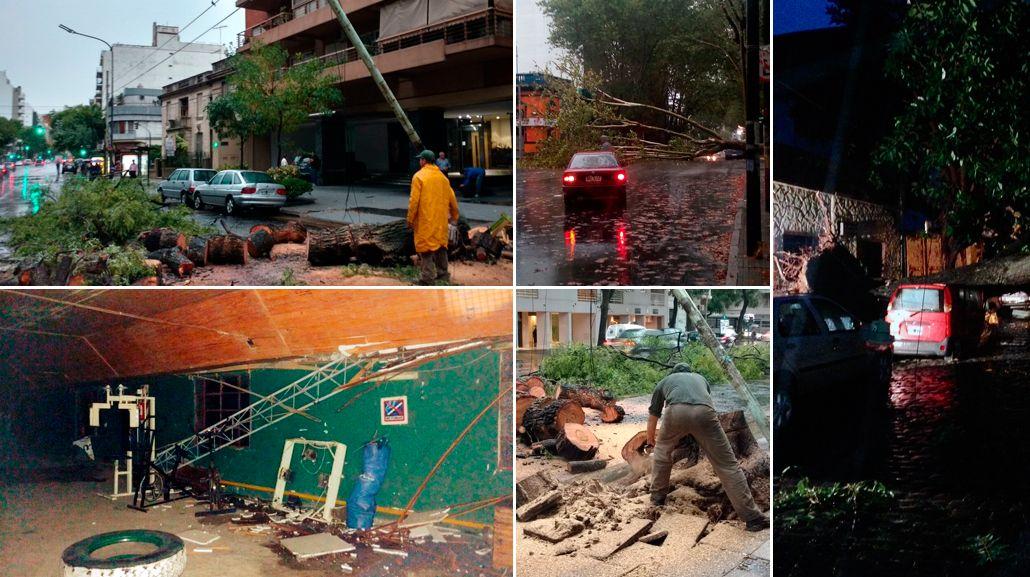 Los destrozos tras el temporal