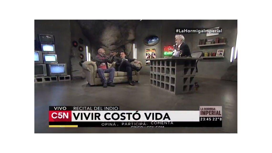 Roberto Pettinato con Paulo Kablan y Fernando Casas en La Hormiga Imperial