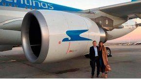 Macri y Awada viajaron juntos desde España