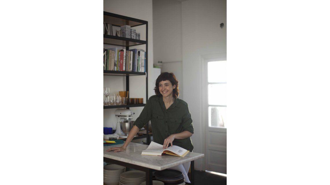 Ximena Sáenz en su cocina
