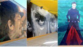 Estos son algunos de los murales que homenajean al ex líder de Soda Stereo