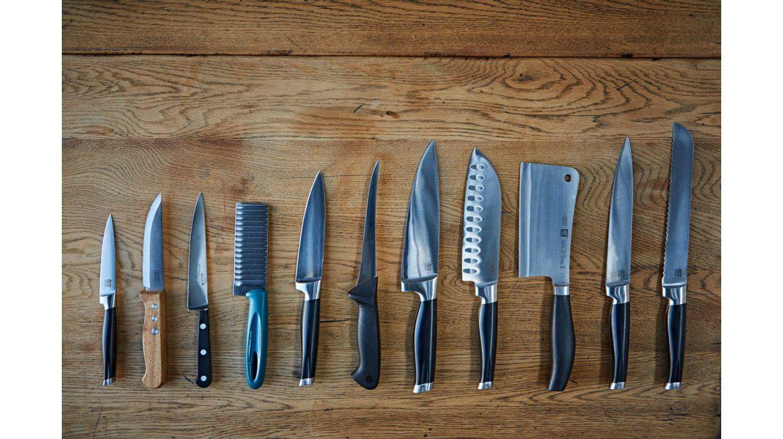 ¿Para qué sirve cada cuchillo en la cocina?