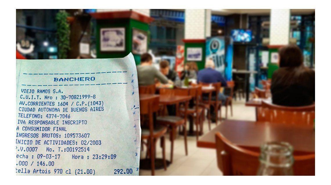 Indignación por los precios de una pizzería