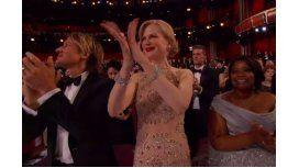 Nicole Kidman fue centro de cargadas por sus aplausos