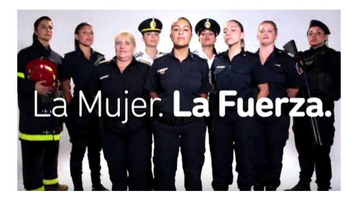 El video que homenajea a las mujeres de la fuerza