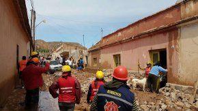 Daños y evacuados en Tilcara por un alud