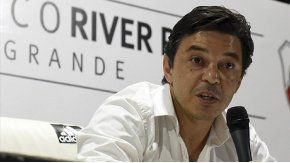 Marcelo Gallardo, en conferencia de prensa