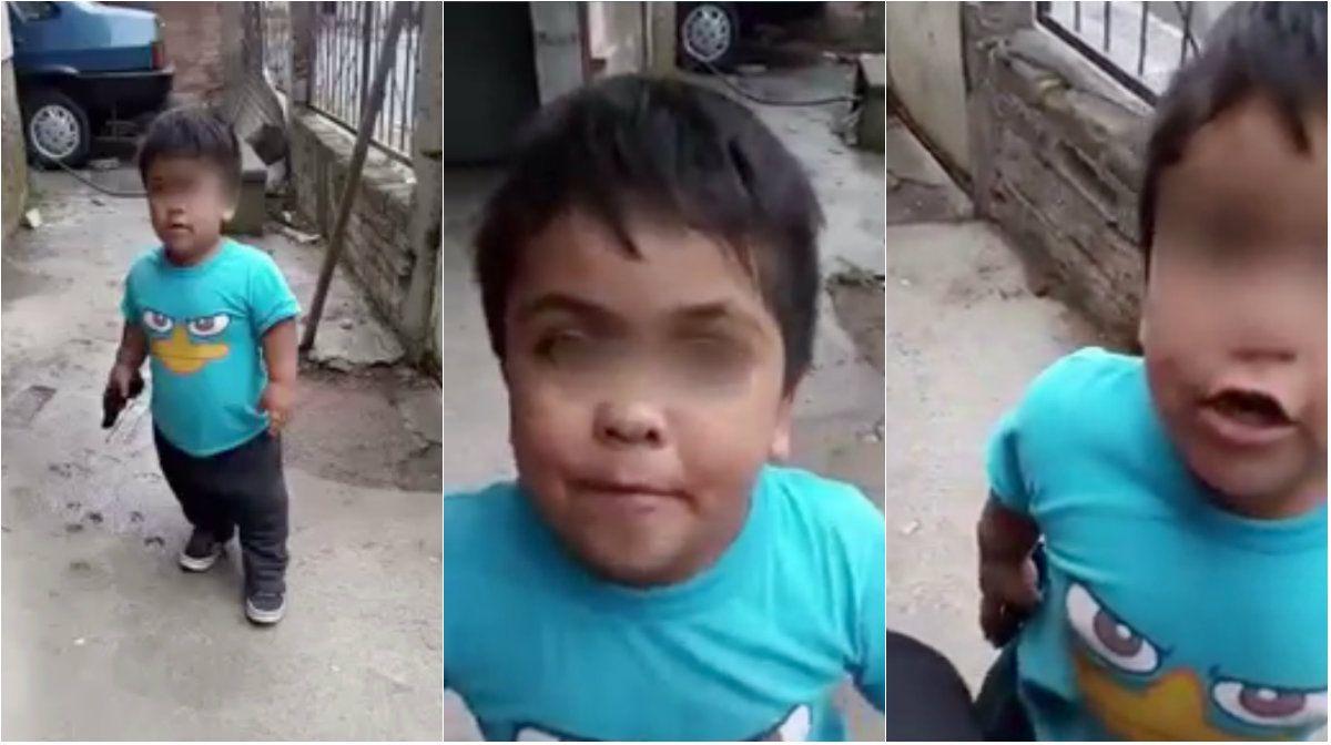 Las imágenes de un nene aprendiendo a robar preocupan a todos