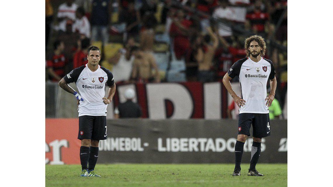 Desazón de los jugadores de San Lorenzo tras la goleada en el Maracaná