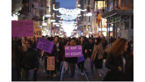 Marcha en Turquía por el Día de la Mujer
