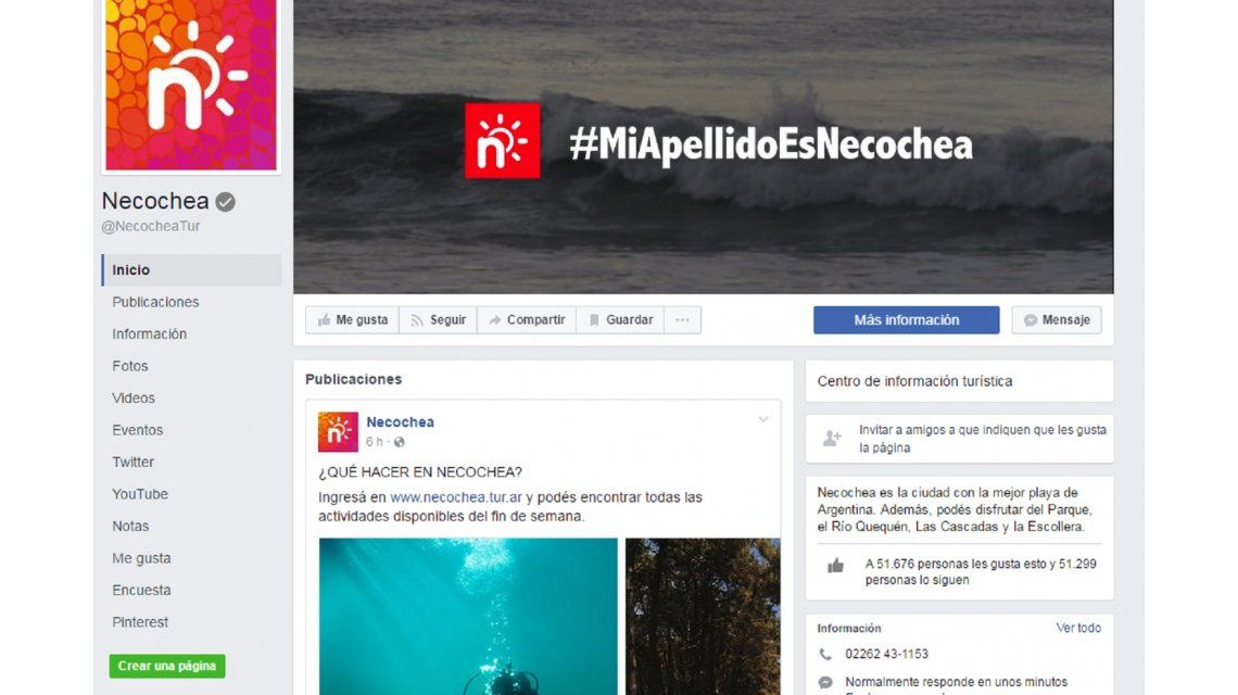 Necochea tiene la familia más grande de Facebook