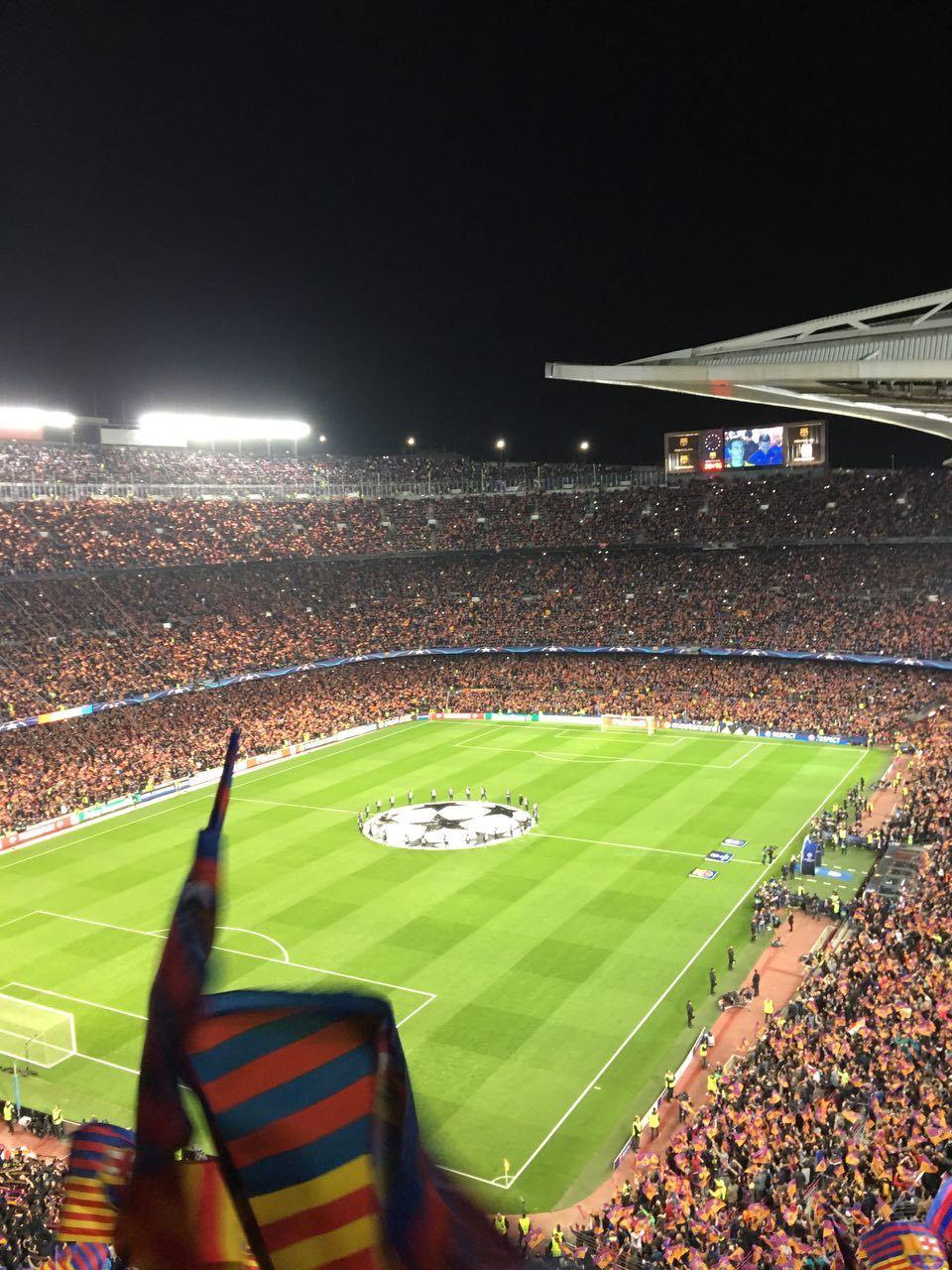 Barcelona por la hazaña en el Camp Nou