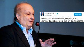 El desafortunado tuit de Hernán Lombardi