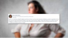 Buscaba trabajo y la discriminaron por su peso