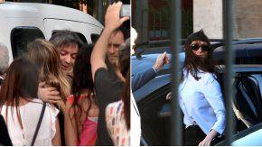 Máximo y Florencia Kirchner llegando a Comodoro Py