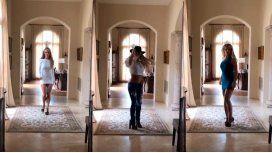 Britney Spears, desfilando en su mansión