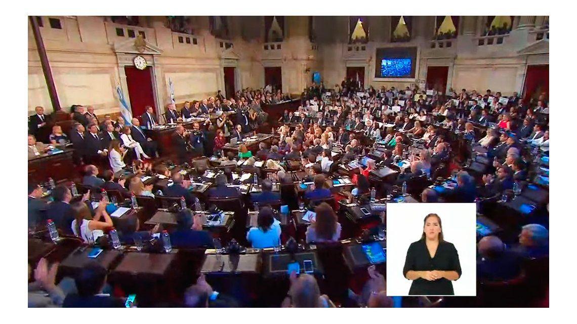 VIVO: Habla Macri en la apertura de sesiones ordinarias