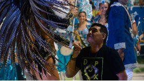 Maradona, chocho en el carnaval de Corrientes