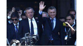 Macri vivió un mal momento a la salida del Congreso