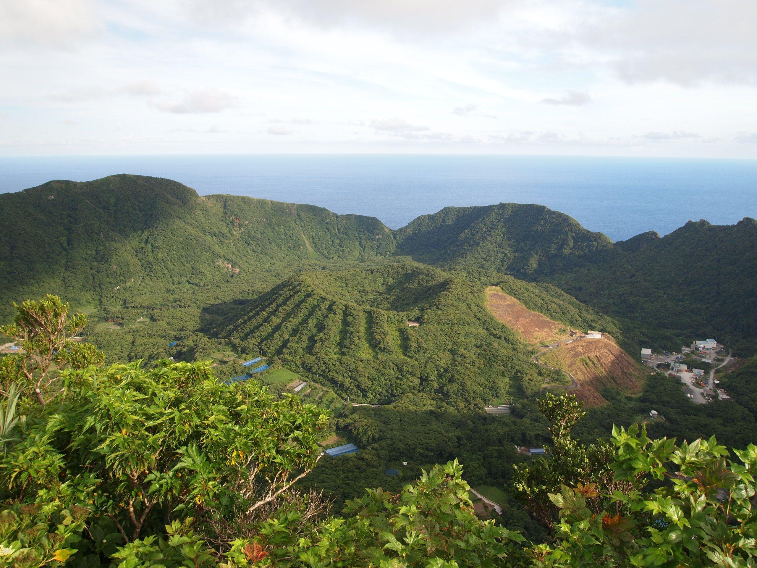 Isla volcánica de Aogashima