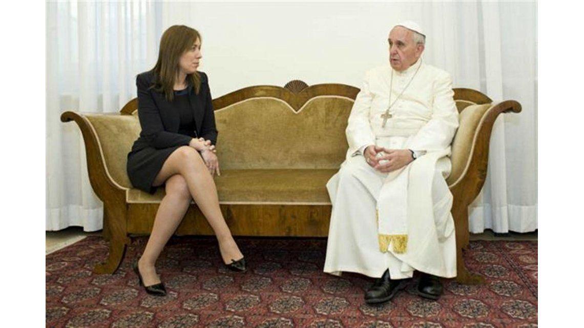 María Eugenia Vidal visitó al papa Francisco