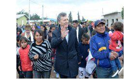 El presidente Macri durante una visita en 2016 a Jujuy.