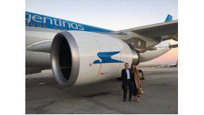 Macri volvió de España por Aerolíneas Argentinas