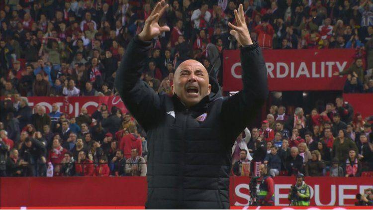 El desahogo de Sampaoli una vez consumada la victoria ante el Athletic