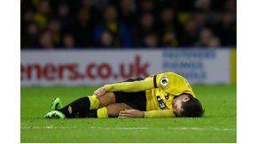 La imagen del terrible dolor de Mauro Zarate