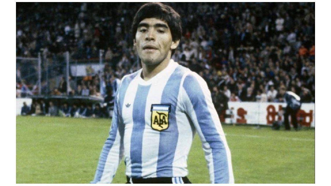 Diego Armando Maradona en 1978