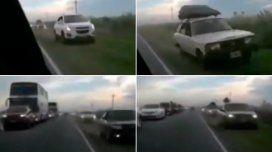 Las peligrosas maniobras de los automovilistas en la ruta 11