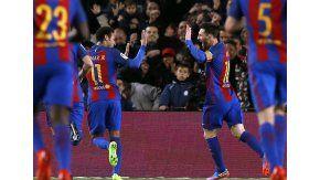 El festejo de la Pulga con Neymar
