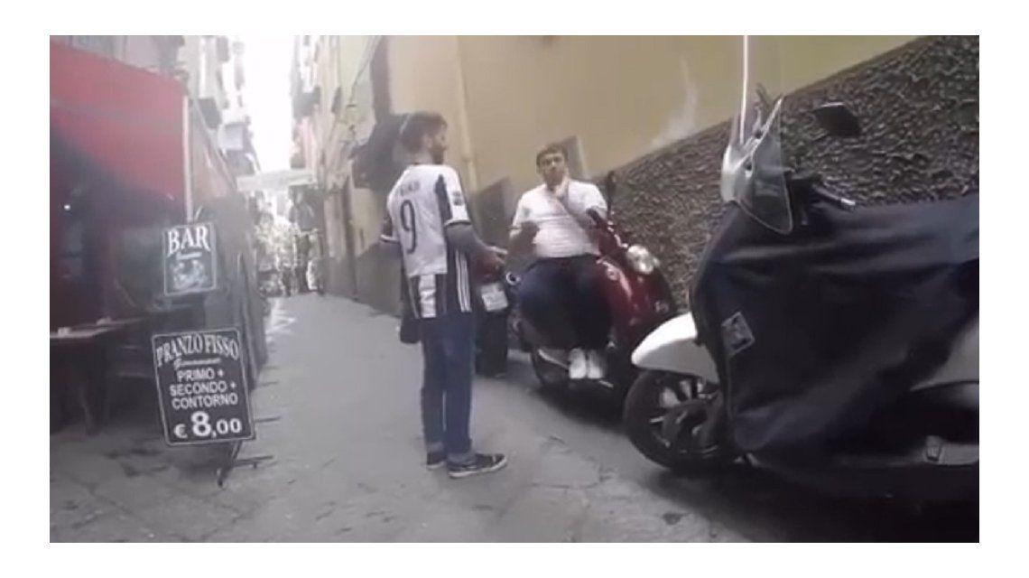 El actor no la pasó bien en la ciudad del Sur italiano