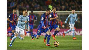 Messi, imparable ante el Celta por la Liga española