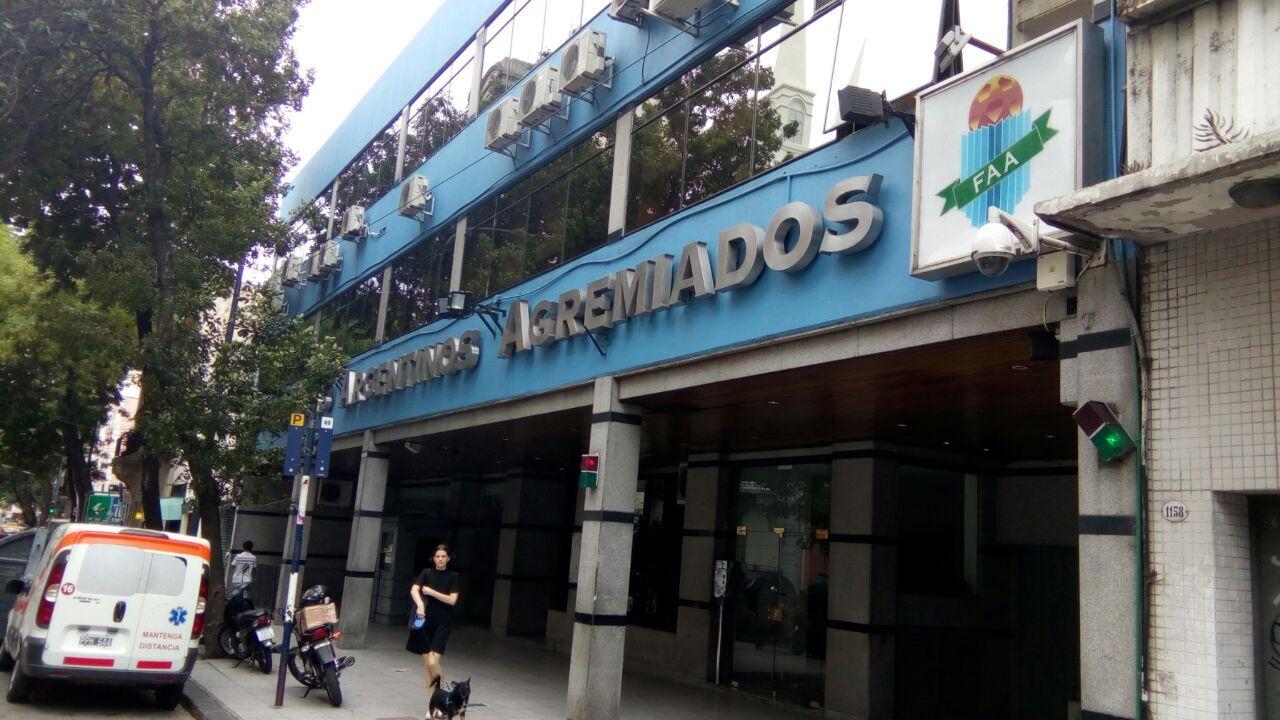 La sede de Futbolistas Argentinos Agremiados