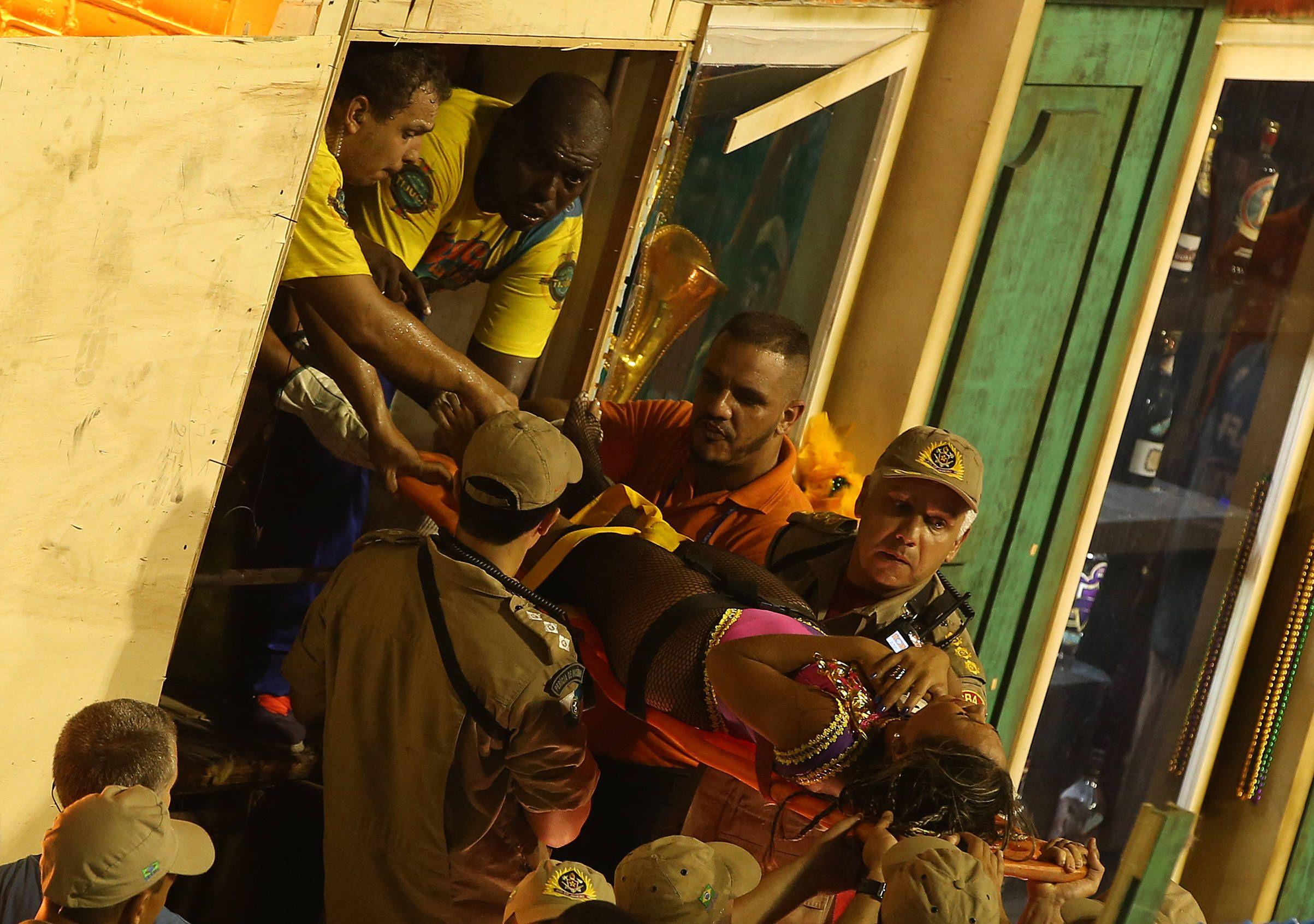 Accidente en el carnaval de Brasil