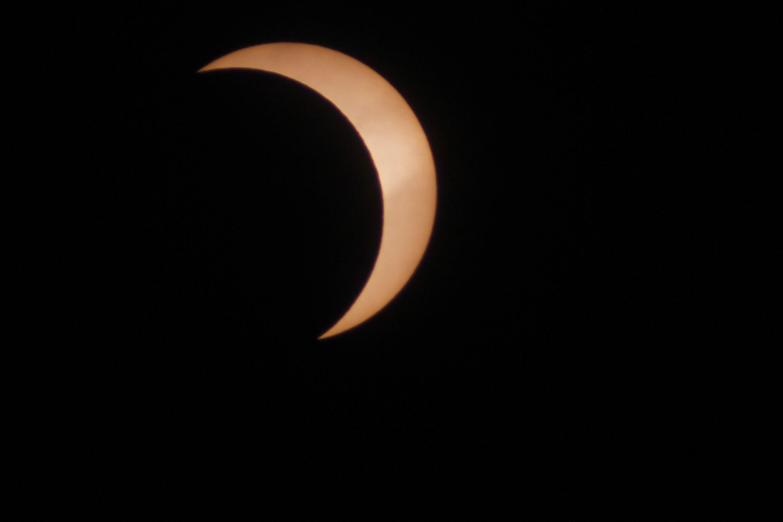Vista del eclipse desde Río Gallegos