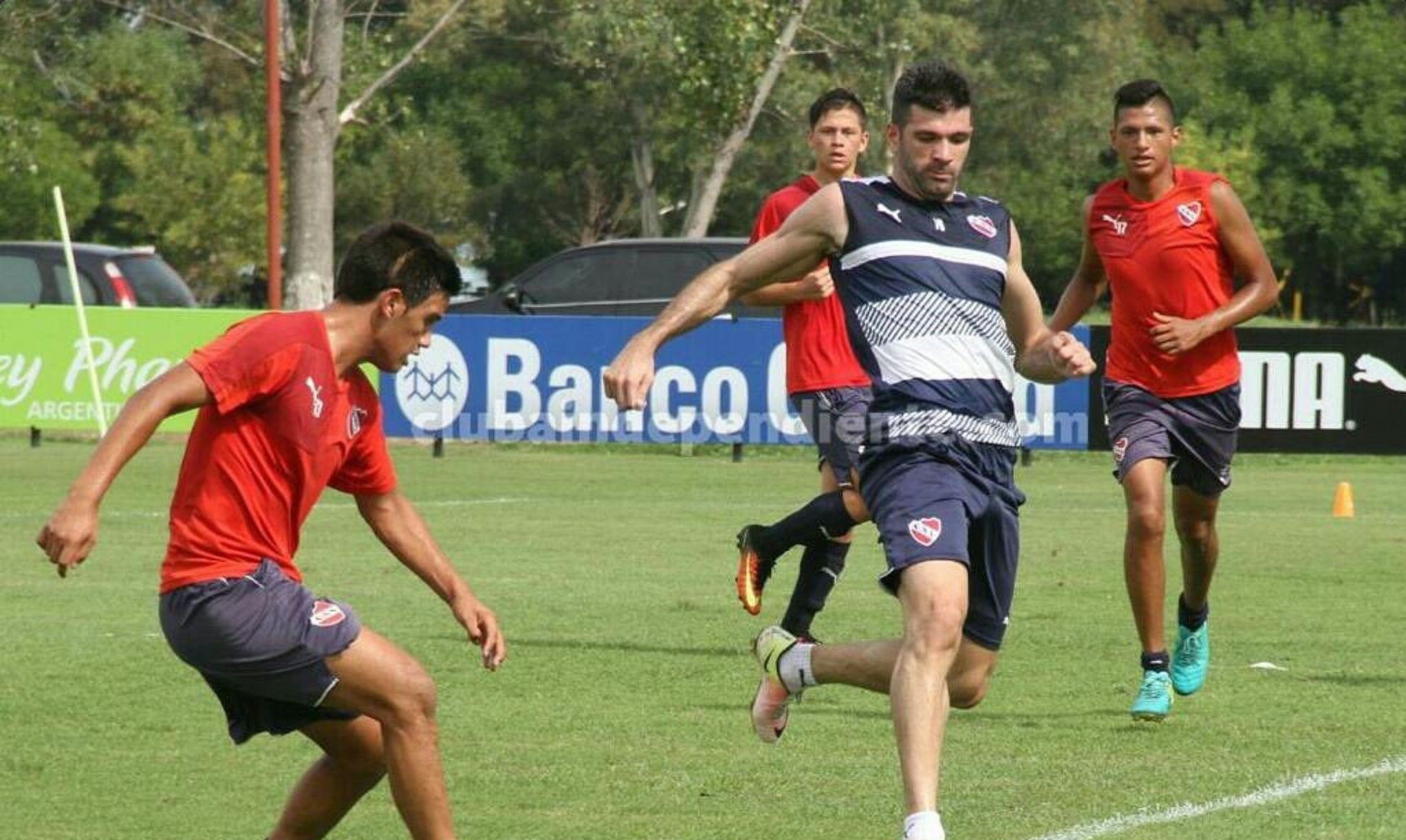 Gigliotti se entrenó por primera vez en Independiente