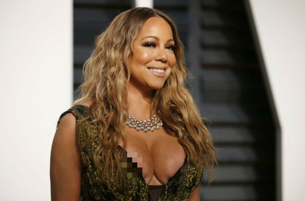 Mariah Carey en la fiesta de Vanity Fair