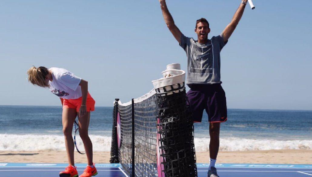 El tandilense se divirtió junto a la canadiense en Acapulco