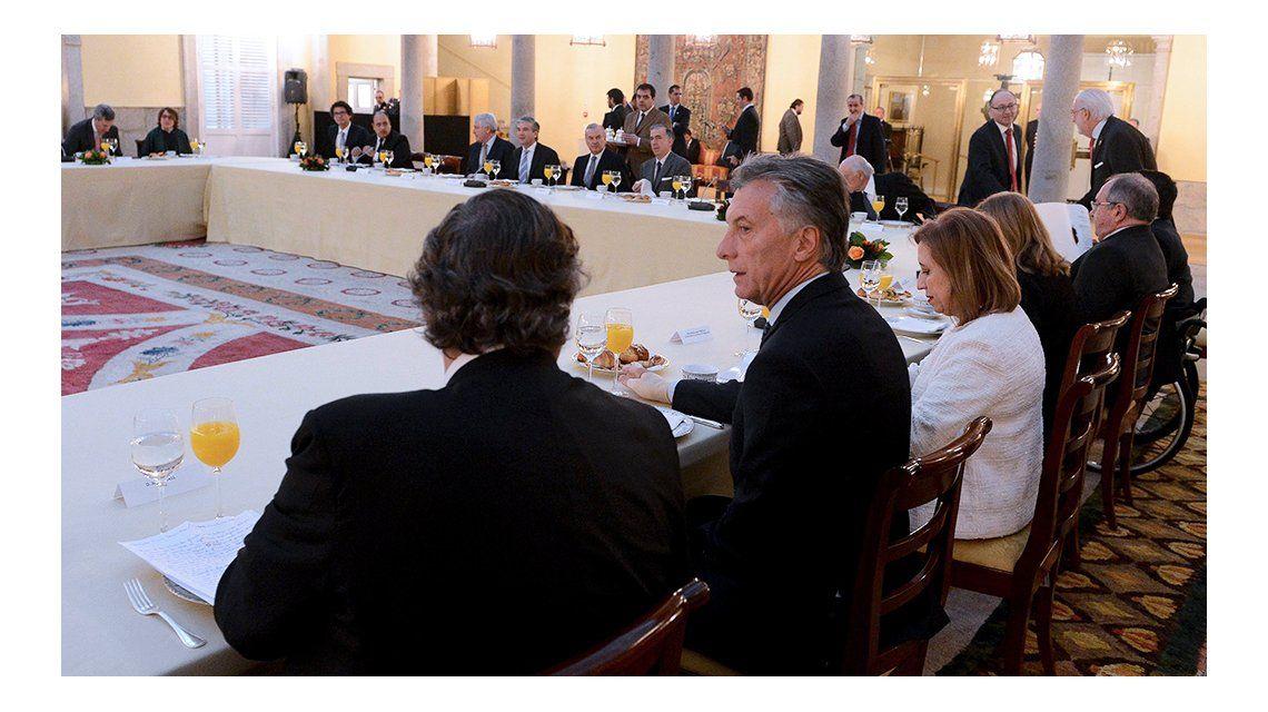 Macri ser reunió con empresarios españoles