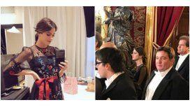 Tini Stoessel, en la cena de honor en España junto a Mauricio Macri