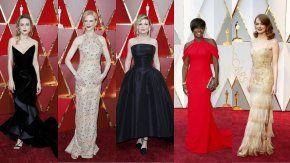 Las mejores vestidas en los Oscar