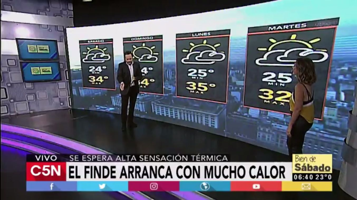 Pronóstico del tiempo del sábado 25 de febrero de 2017