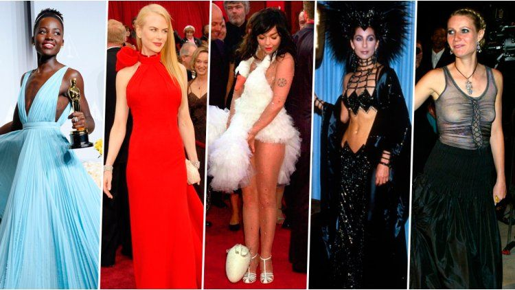 Lo mejor y lo peor de la Alfombra Roja de los Oscar a lo largo del tiempo
