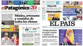 Tapas de diarios del sábado 25 de febrero de 2017