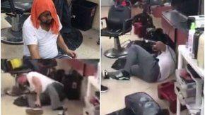 El estadounidense descargó toda su furia en una peluquería