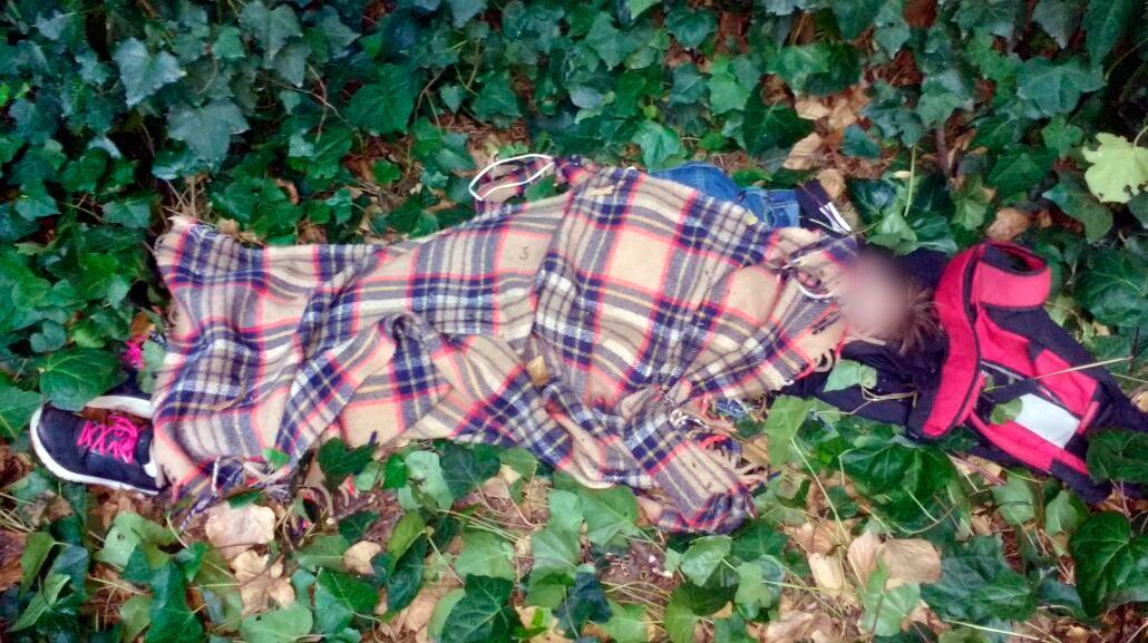 Así encontraron a la joven en el bosque Peralta Ramos